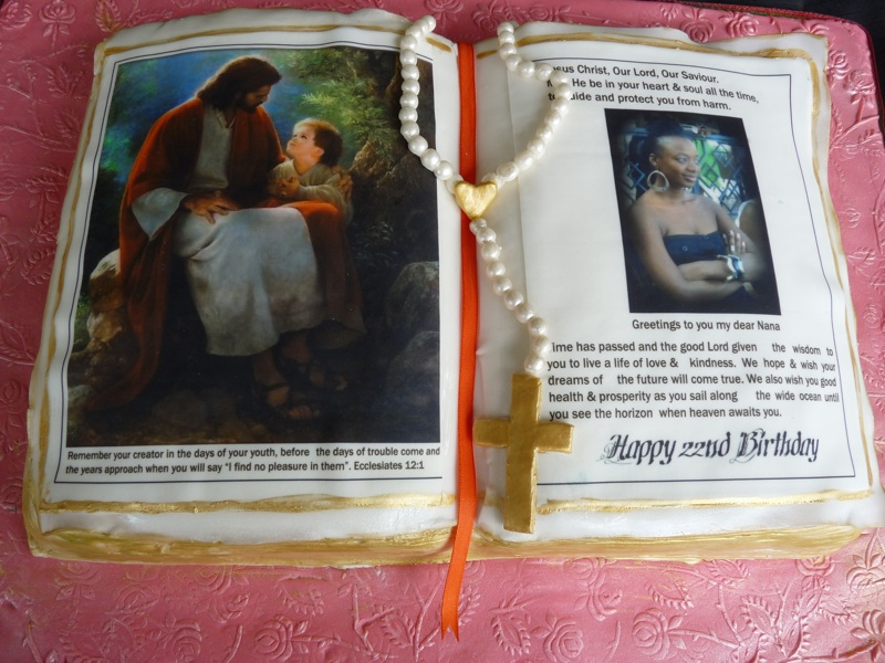 Bible Birthday Cakes http://www.angelinestanley.com/featured/bible-cake/