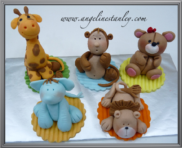 Animal Toppers for Cupcakes