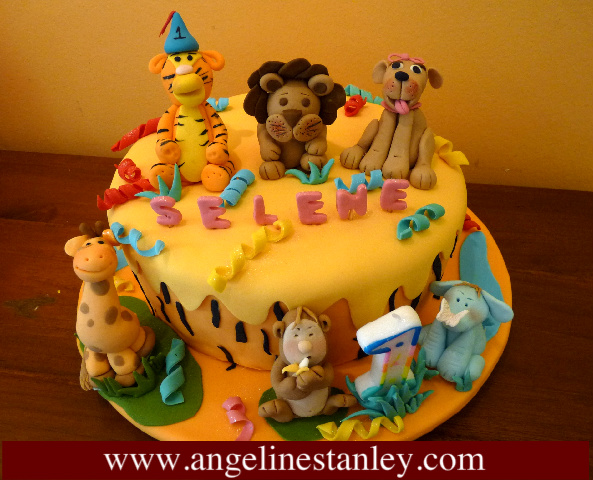 Animal Birthday Cake Design